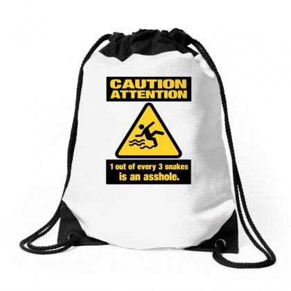Caution Snakes Drawstring Bags Designed By Ismi