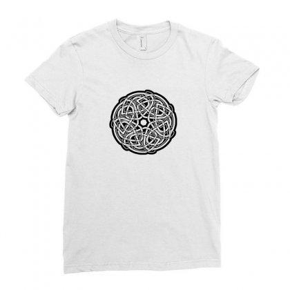 Celtic Keltisch Mandala Knoten Knot Runen Thor Kreuz Cross Funny Ladies Fitted T-shirt Designed By Ismi