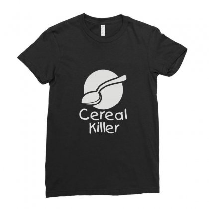Cereal Killer Ladies Fitted T-shirt Designed By Ismi