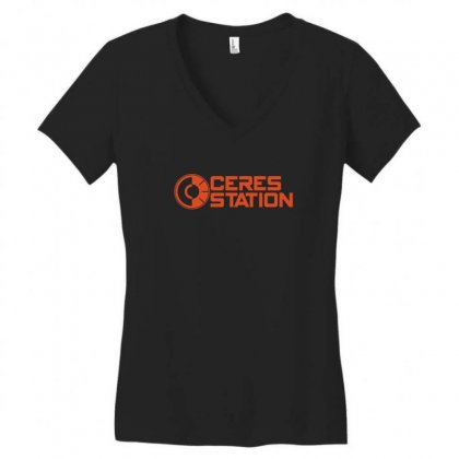 Ceres Station Women's V-neck T-shirt Designed By Ismi