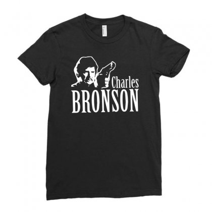 Charles Bronson Ladies Fitted T-shirt Designed By Ismi