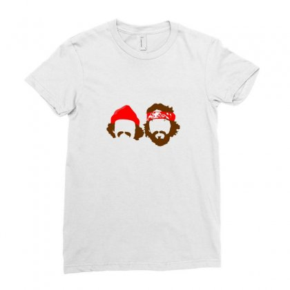 Cheech & Chong Funny Ladies Fitted T-shirt Designed By Ismi