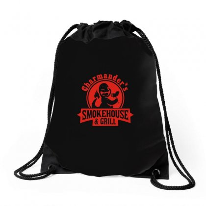 Charmander's Smokehouse And Grill Drawstring Bags Designed By Ismi