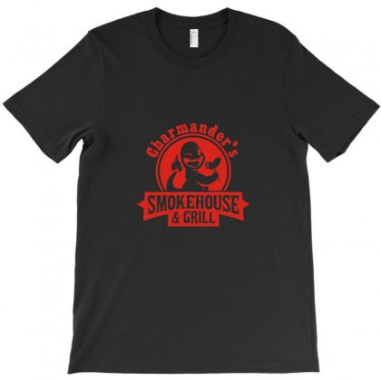 Charmander's Smokehouse And Grill T-shirt Designed By Ismi