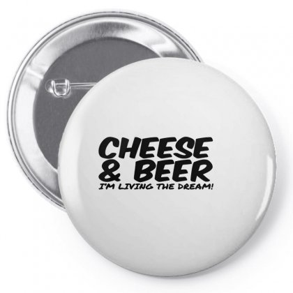Cheese & Beer Pin-back Button Designed By Ismi