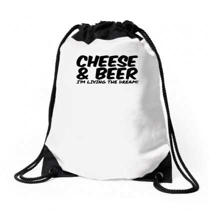 Cheese & Beer Drawstring Bags Designed By Ismi