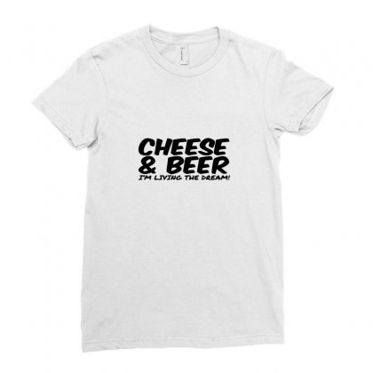 Cheese & Beer Ladies Fitted T-shirt Designed By Ismi