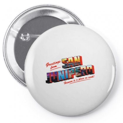 Greeting From San Junipero Pin-back Button Designed By Blqs Apparel