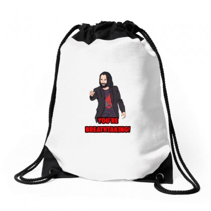 You Are Breathtaking Keanu Reeves Drawstring Bags Designed By Titis