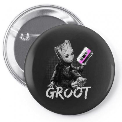 Groot's Mixtape Funny Pin-back Button Designed By Blqs Apparel