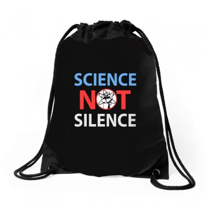 Science Not Silence Drawstring Bags Designed By Blqs Apparel