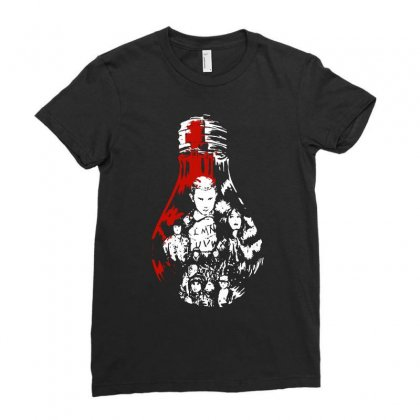 Stranger Things Kids Ladies Fitted T-shirt Designed By Blqs Apparel