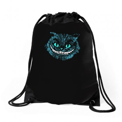 Cheshire Blue Head Drawstring Bags Designed By Funtee