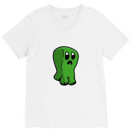 Chibi Creeper V-neck Tee Designed By Funtee