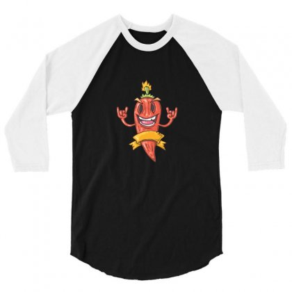 Chilli Pepper 3/4 Sleeve Shirt Designed By Funtee