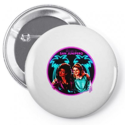 Welcome To San Junipero   Neon Pin-back Button Designed By Blqs Apparel