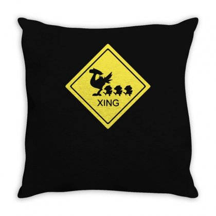 Chocobo Xing Final Fantasy Throw Pillow Designed By Funtee