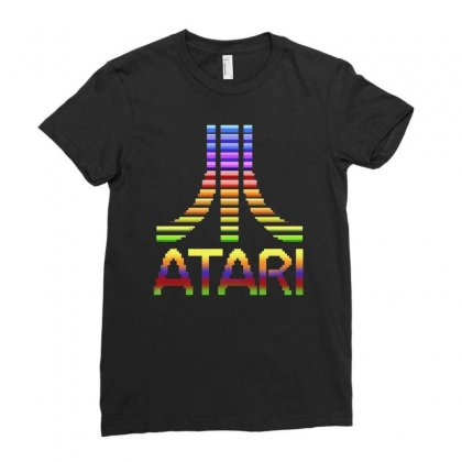 Atari Rules Ladies Fitted T-shirt Designed By Mirazjason