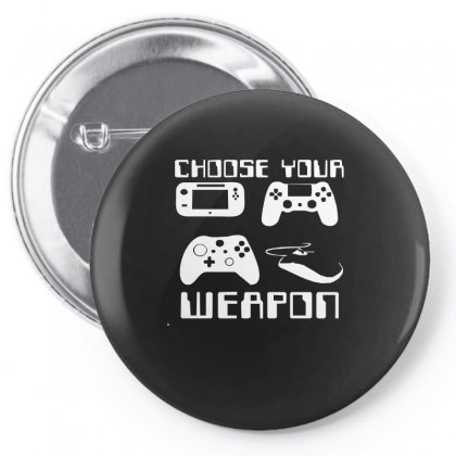 Choose Your Weapon Gamer Pin-back Button Designed By Funtee