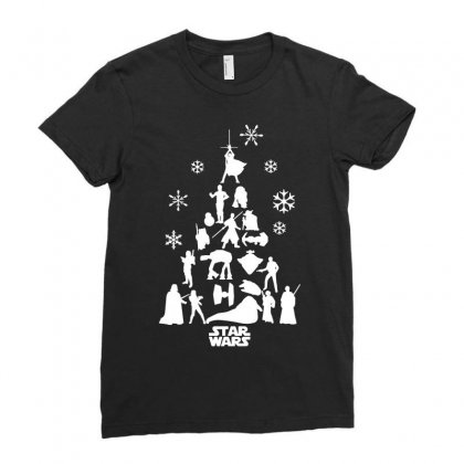 Christmas Darth Vader Funny Ladies Fitted T-shirt Designed By Funtee