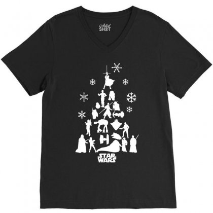 Christmas Darth Vader Funny V-neck Tee Designed By Funtee