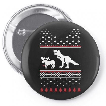 Christmas Dino Pin-back Button Designed By Funtee