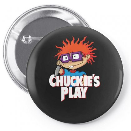 Chuckie's Play Pin-back Button Designed By Funtee