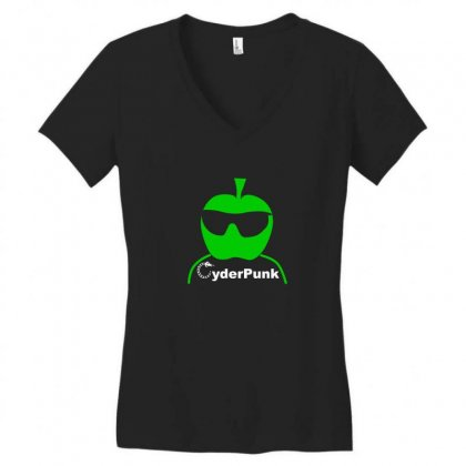 Cider (cyder Cyber) Punk Drinking Apple West Country Rough Scrumpy Women's V-neck T-shirt Designed By Funtee