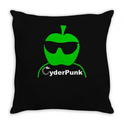 Cider (cyder Cyber) Punk Drinking Apple West Country Rough Scrumpy Throw Pillow Designed By Funtee