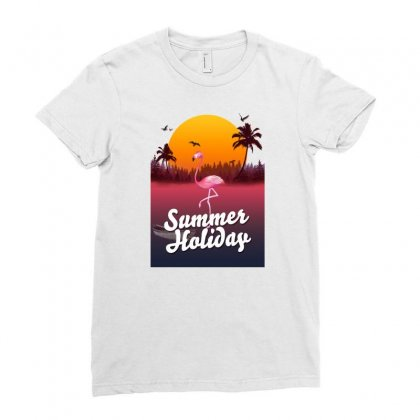 Summer Holiday Ladies Fitted T-shirt Designed By Mirazjason