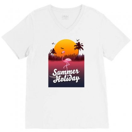 Summer Holiday V-neck Tee Designed By Mirazjason
