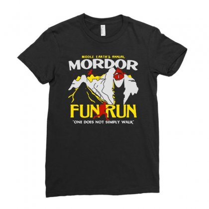 Mordor Fun Run Ladies Fitted T-shirt Designed By Mirazjason
