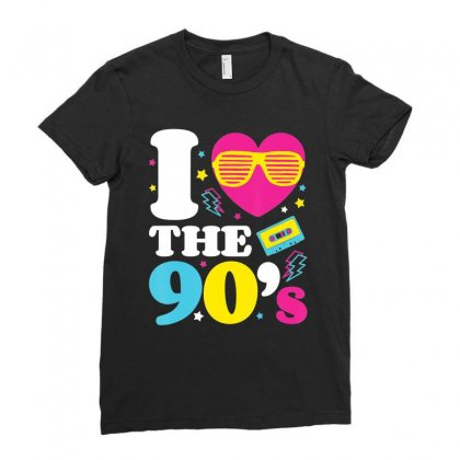 1990's 90s Tshirt I Heart The Nineties T Shirt Ladies Fitted T-shirt Designed By Nhan