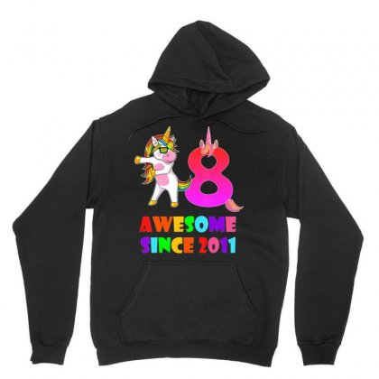 8 Years Old 8th Birthday Unicorn Floss Shirt Girl Gift Party Unisex Hoodie Designed By Nhan