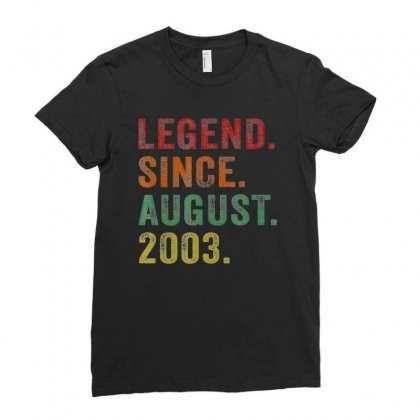 Legend Since August 2003 16th Birthday 16 Years Old Tshirts Ladies Fitted T-shirt Designed By Nhan