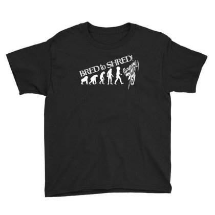 Bred To Shred T Shrit Youth Tee Designed By Hung