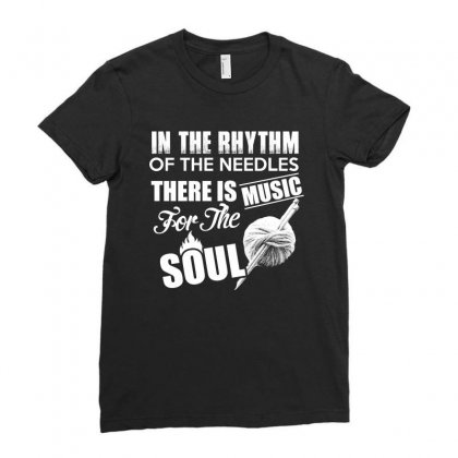 There Is Music For The Soul T Shirt Ladies Fitted T-shirt Designed By Hung