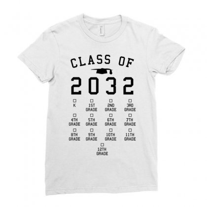Class Of 2032 Grow With Me Shirt With Space For Checkmarks Ladies Fitted T-shirt Designed By Nhan