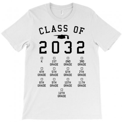 Class Of 2032 Grow With Me Shirt With Space For Checkmarks T-shirt Designed By Nhan