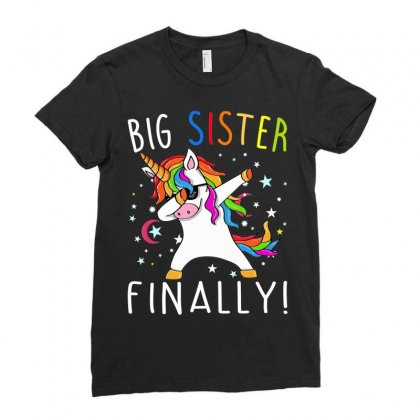 Big Sister Finally Unicorn Shirt   Unicorn Shirt For Girl Tee Ladies Fitted T-shirt Designed By Nhan