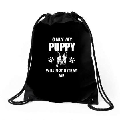 Never Trust A Person That Doesn't Love Dogs Drawstring Bags Designed By Cogentprint