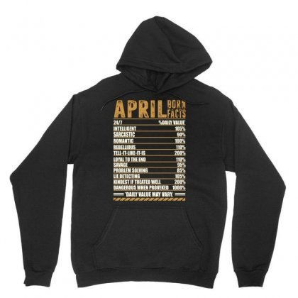 April Born Facts Unisex Hoodie Designed By Omer Acar