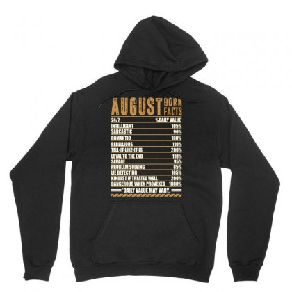 August Born Facts Unisex Hoodie Designed By Omer Acar
