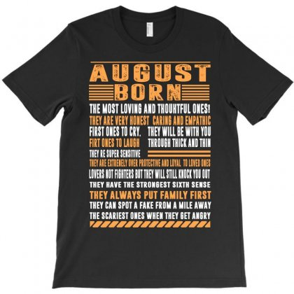 August Born T-shirt Designed By Omer Acar