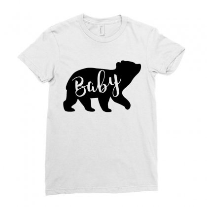 Baby Bear Ladies Fitted T-shirt Designed By Omer Acar