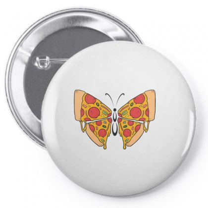 Pizza Butterfly   Illustration Pin-back Button Designed By Omer Acar