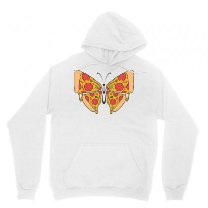 Pizza Butterfly   Illustration Unisex Hoodie Designed By Omer Acar