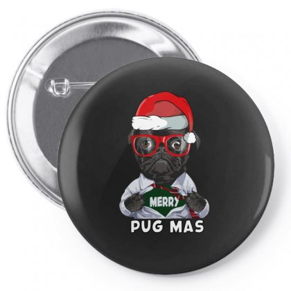 Funny Christmas Gift Merry Pug Mas Pin-back Button Designed By Omer Acar