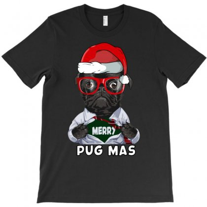 Funny Christmas Gift Merry Pug Mas T-shirt Designed By Omer Acar