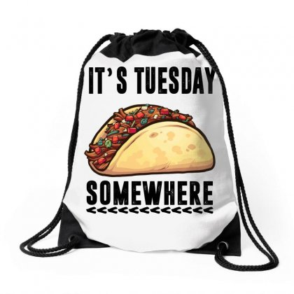 Lebron James Taco Tuesday It's Tuesday Somewhere Drawstring Bags Designed By Omer Acar